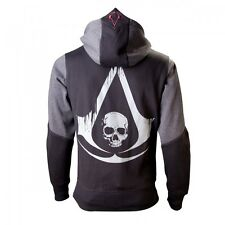 Assassins Creed 4 Hoodie XXL Black Grey Character Neu & OVP
