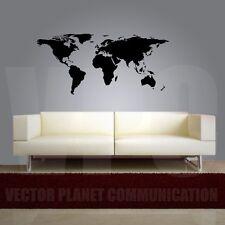 wall stickers planisfero world 126 x 60 adesivo murale cartina mappa mondo a0196