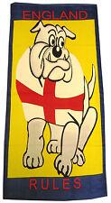 Toalla de playa Bulldog Británico Inglaterra St George Bandera De Baño Natación Azul Amarillo