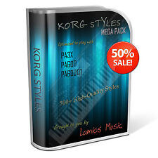 Korg Styles Mega Pack for Korg PA300 PA600/QT PA900 PA3X PA4X. 511 Korg Styles