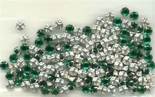 Sew on Rhinestones..144 pcs Kelly Green..Free Ship USA