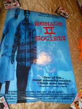 Poster Menace To  II Society 1 Sheet Rolled Promo Video Store Really Nice 1993