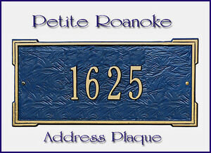 Whitehall Roanoke Petite-Size Address Marker Personalized Sign 17 Color Choices