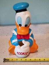 Vintage Disney Donald Duck Ceramic Cookie Jar *Fast Free Shipping