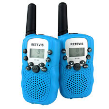 2x Sky Blue Retevis Rt-388 UHF 8ch Kid Walkie Talkie 2-way Radio AU Ship D