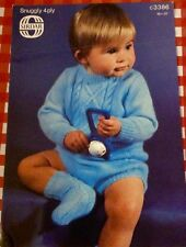 SIRDAR Snuggly 4ply ~ Baby Pattern ~ Sweater Pants and socks~16-20inch(41-51cms)