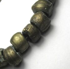 16 RARE AMAZING WELL WORN  OLD NIGERIAN BRASS ANTIQUE BEADS AFRICAN TRADE