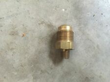 "1/2"" Flare x 1/8 NPT Male SAE 45° Brass Straight Water Oil Gas Air Fuel Fitting"