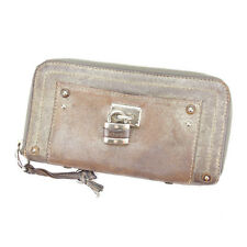 Chloe Wallet Purse Paddington Bronze Silver Woman Authentic Used S044