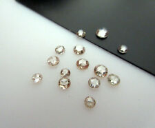 12 Pc 2-3mm Clear Cognac Brown Rose Cut Cabochon Champagne Diamond Ring DDS270/3