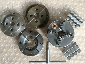 """Bison Axminster 4"""" 4 jaw self centring Chuck with Woodturning Jaws"""