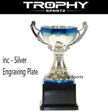 Silver/Blue Trophy handle CUP 245mm sport achievement award