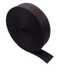 "10 Meter X 25mm Polypropylene 1"" Webbing Assorted Colours Black"