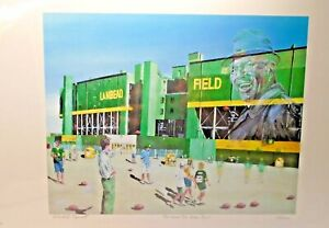 THE HOUSE THAT VINCE BUILT, SIGNED BY David A Higwell; 234/500, Green Bay Packer
