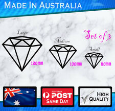 Sticker - Diamond Set of 3 Girl Babe Decal Vinyl JDM Car Laptop Bumper Window