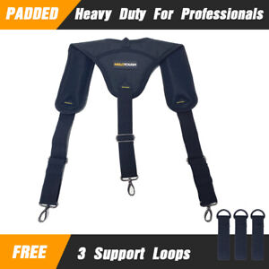 Padded Heavy duty Tool Belt Work Support Braces Adjustable For Tool Pouch 3 Loop