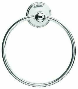 ROUND TOWEL RING HOLDER WALL MOUNT MOUNTED FOR KITCHEN BATHROOM CHROME