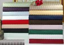 All Bedding Items US Short Queen Size 1000 TC Egyptian Cotton Striped Colors