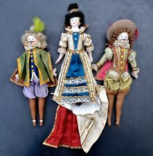 3 Antique Dolls - German- Bisque-Head/Shoulder/Limbs- Muslin Body -circa 1885