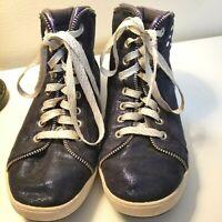 Skechers Blue Glitter Tennis Shoes Size 5.5