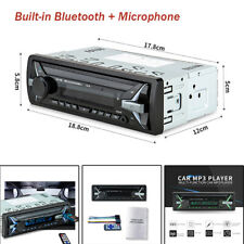 12V Car MP3 Player Bluetooth + Microphone Stereo FM Radio Hands-free Calling