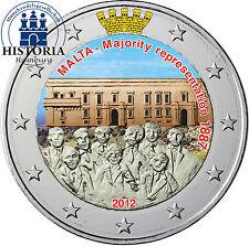 Malta 2 Euro Gedenkmünze 2012 stgl. Mehrheitswahlrecht in Farbe