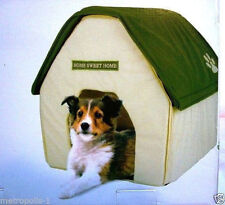 PET SHOPPE,PORTABLE DOG,PET HOUSE,SOFT PADDED FABRIC,FOR HOME & TRAVEL,GREEN,NEW