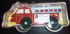 Wilton FIRE TRUCK Cake Pan Mold w/instructions FREE Betty Crocker bowl scraper