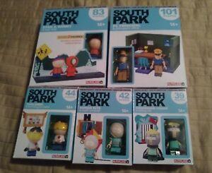 McFarlane Toys Building Sets South Park SET OF 5 Bus Stop & PC Principal BUTTERS