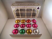 Vintage Lot of 12 Mixed Mercury Glass Christmas Ornaments Shiny Brite USA