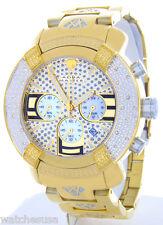Aqua Master Gold Tone Chrono 20 Diamond Quartz Men's Watch #W96