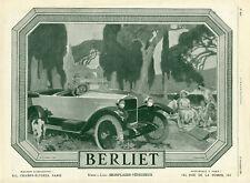 """""""BERLIET"""" Annonce originale entoilée L'ILLUSTRATION 13/9/1924"""
