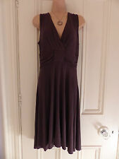 Nougat London size 2 (UK12) brown jersey fabric sleeveless dress, ruched waist