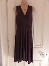 Nougat London size 2 (UK12) brown jersey fabric sleeveless dress, ruched waist