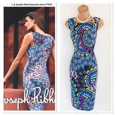 Stunning JOSEPH RIBKOFF Peacock Multi/Sparkly Stretchy Bodycon Jersey Dress Uk14