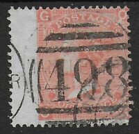 SG94.  4d.Vermilion Pl.8. FU With Manchester 498 Cancel.  Cat.£80.  Ref:08198