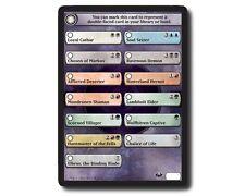 UNUSED X4 Dark Ascension Flip Check Token Card MTG Huntmaster Elbrus Chalic Life