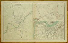 AUTHENTIC CIVIL WAR MAP~DEFENSES OF MUNDFORDVILLE, CAMP NELSON & LOUISVILLE, KY.