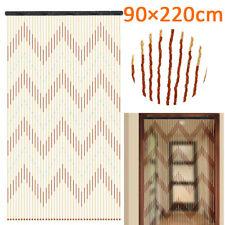 String Door Curtain Room Window Divider Panel Wooden Bead Fly Screen 90 x  D