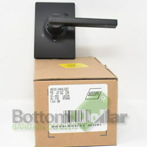 Schlage F59 LAT 622 CEN Latitude Single Cylinder Interior Lever Set Matte Black