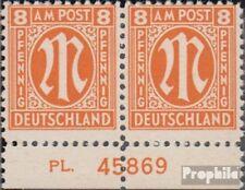 Twee zones (Allied Cast) 5 met Nummerplaat postfris 1945 aan-Post