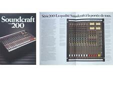 SOUNDCRAFT SERIES 200 RECORDING CONSOLE BROCHURE 1985