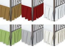 King Ruffled Bed Skirt with Split Corner 600 TC Egyptian Cotton Three Sided