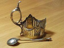 Glashalter Faberge und Löffel Niello Silber 84 Moskau
