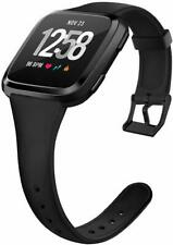 Bands Compatible Fitbit Versa/Versa 2 &Versa Lite Edition, Soft Silicone Slim