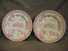 "Set of 2 Queen's ""A Gift for a Girl"" Baby Pink Child's Plate"
