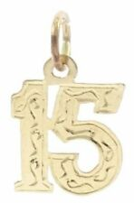 # 15 Charm in 14kt Yellow Gold