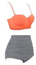 Swiland Women Vintage Swimsuits High Waisted Bikinis Bathing Suits Retro XXL