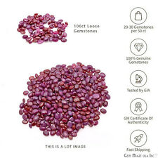 100 Carats Lot Natural Loose Ruby Gemstone Mixed Gems July Birthstone (RB-60003)