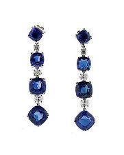 Bulgari Sapphire and Diamond Earrings 17.62CTTW Sapphire/.65 CTTW Diamonds RARE